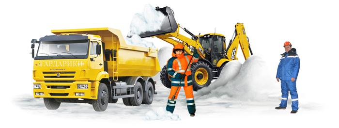 Снегоуборочная техника в Истре и Истринском районе - уборка снега в коттеджных поселках и на дачах - чистка дорог от снега