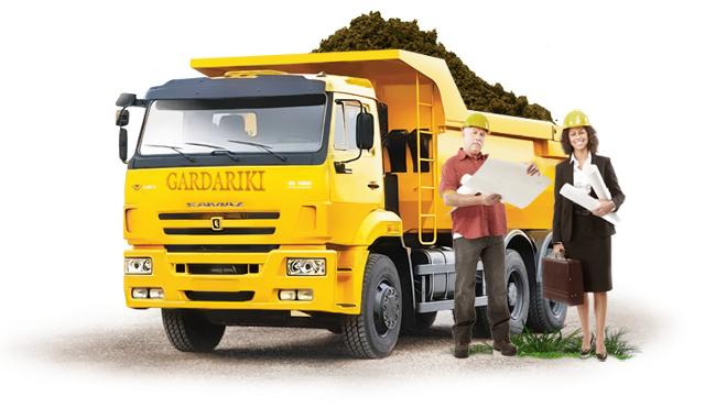 Аренда строительной техники - самосвалы КамАЗ для перевозки сыпучих грузов в Истринском и Красногорском районе