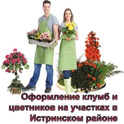 Озеленение - создание клумб и цветников в Истре