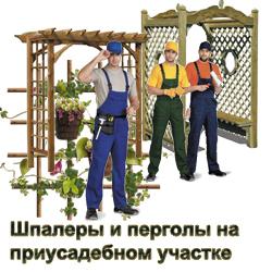 Строительство - установка - обслуживание шпалер пергол на приусадебном участке в Истринском и Красногорском районе от компании Гардарики